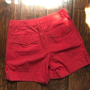Talbots Shorts - Talbots Nantucket Red Cuffed Shorts